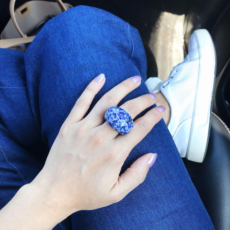 Цельное кольцо из содалита, Кольца, Москва,  Фото №1