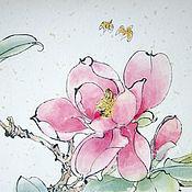 Картины и панно handmade. Livemaster - original item Painting gift watercolor flowers Spring flower. Handmade.