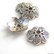 Материалы для творчества handmade. Livemaster - original item Beanie for beads color silver. Handmade.