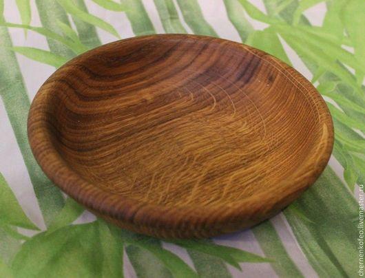 Тарелки ручной работы. Ярмарка Мастеров - ручная работа. Купить тарелочка из дуба. Handmade. Зеленый, для ресторана, токарная посуда