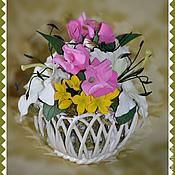 """Цветы и флористика ручной работы. Ярмарка Мастеров - ручная работа """"Подарок Леля"""" - интерьерная композиция. Handmade."""