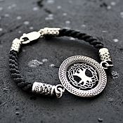 Украшения handmade. Livemaster - original item Bracelet braided amulet Tree of life. 925 sterling silver. Handmade.