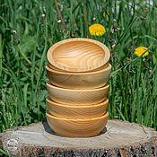 Для дома и интерьера ручной работы. Ярмарка Мастеров - ручная работа Чаши из сибирского кедра набор 5 шт. Для пищевых продуктов и пр TN12. Handmade.