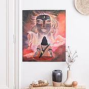 """Картины ручной работы. Ярмарка Мастеров - ручная работа Картины:  Картина акрилом """"свет медитации"""". Handmade."""