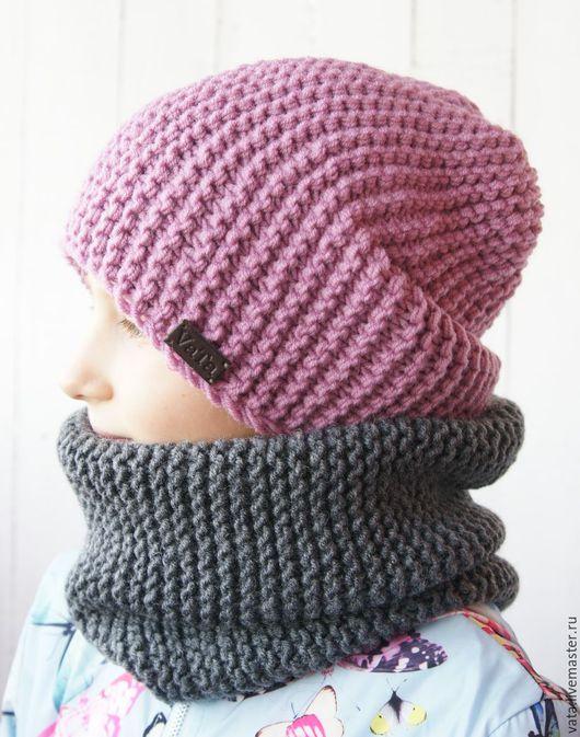 вязаная шапка крупной вязки, шапка ручной работы, вязаная шапка спицами, шапка вязаная на зиму, шапка из толстой пряжи, шапка вязаная купить