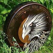 Музыкальные инструменты handmade. Livemaster - original item eagle. Tambourine shaman leather. 50 cm.. Handmade.