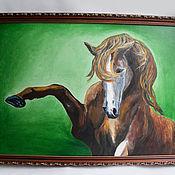 """Картины и панно ручной работы. Ярмарка Мастеров - ручная работа Лошадь """" Мандаринка"""". картина. Handmade."""