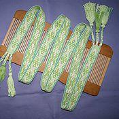 Русский стиль ручной работы. Ярмарка Мастеров - ручная работа Пояс тканый на бердо женский обережный. Handmade.