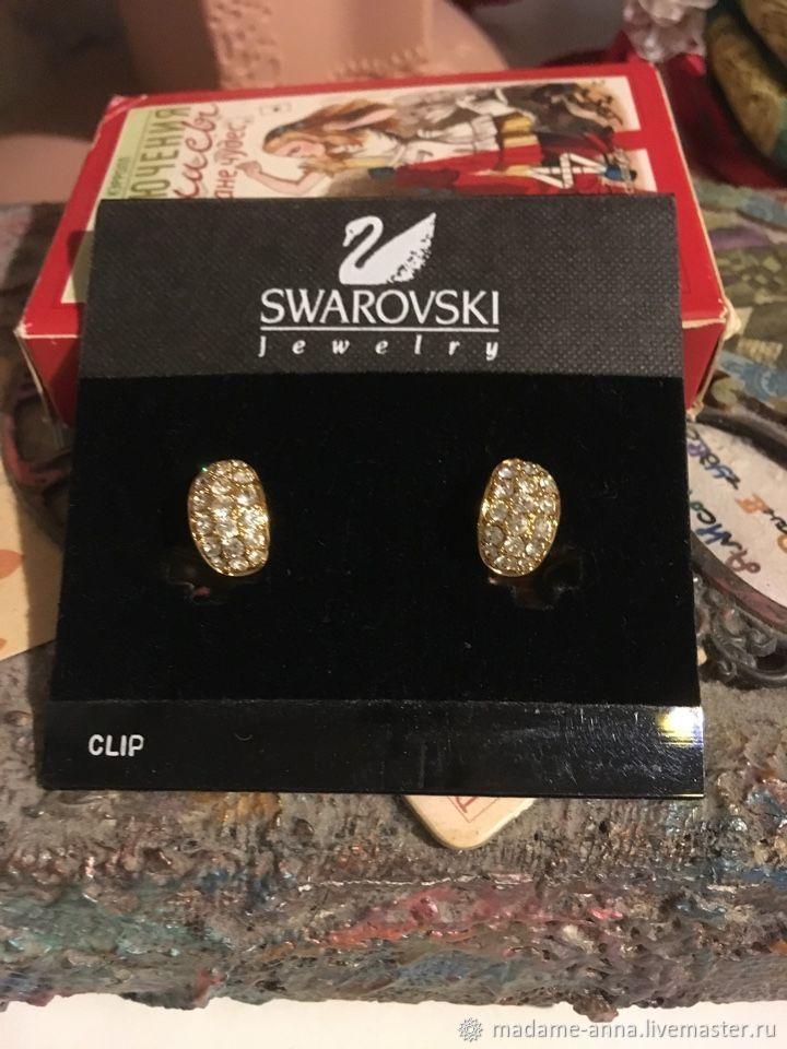 SWAROVSKI Clip earrings vintage, Austria, Vintage earrings, Kazan,  Фото №1