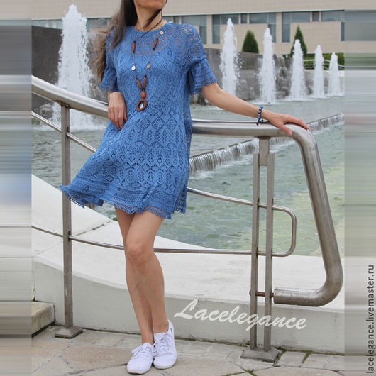 Вязание ручной работы. Ярмарка Мастеров - ручная работа. Купить Blue Karin (мастер-класс по вязанию ). Handmade. pattern