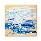 Картины и панно handmade. Livemaster - original item the picture tree White sailboat, decorative panels. Handmade.