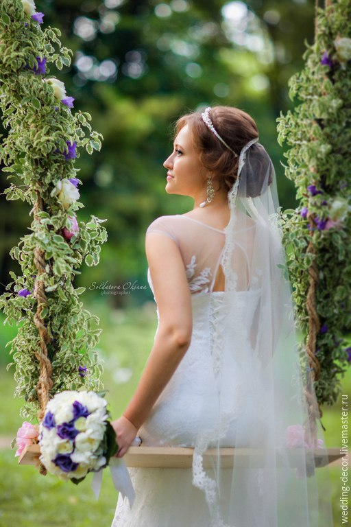 Свадебные цветы ручной работы. Ярмарка Мастеров - ручная работа. Купить Оформление свадебной фотосессии, лавстори. Handmade. Качели