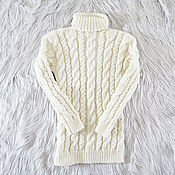 Одежда handmade. Livemaster - original item Knitted wool sweater (No. №398). Handmade.
