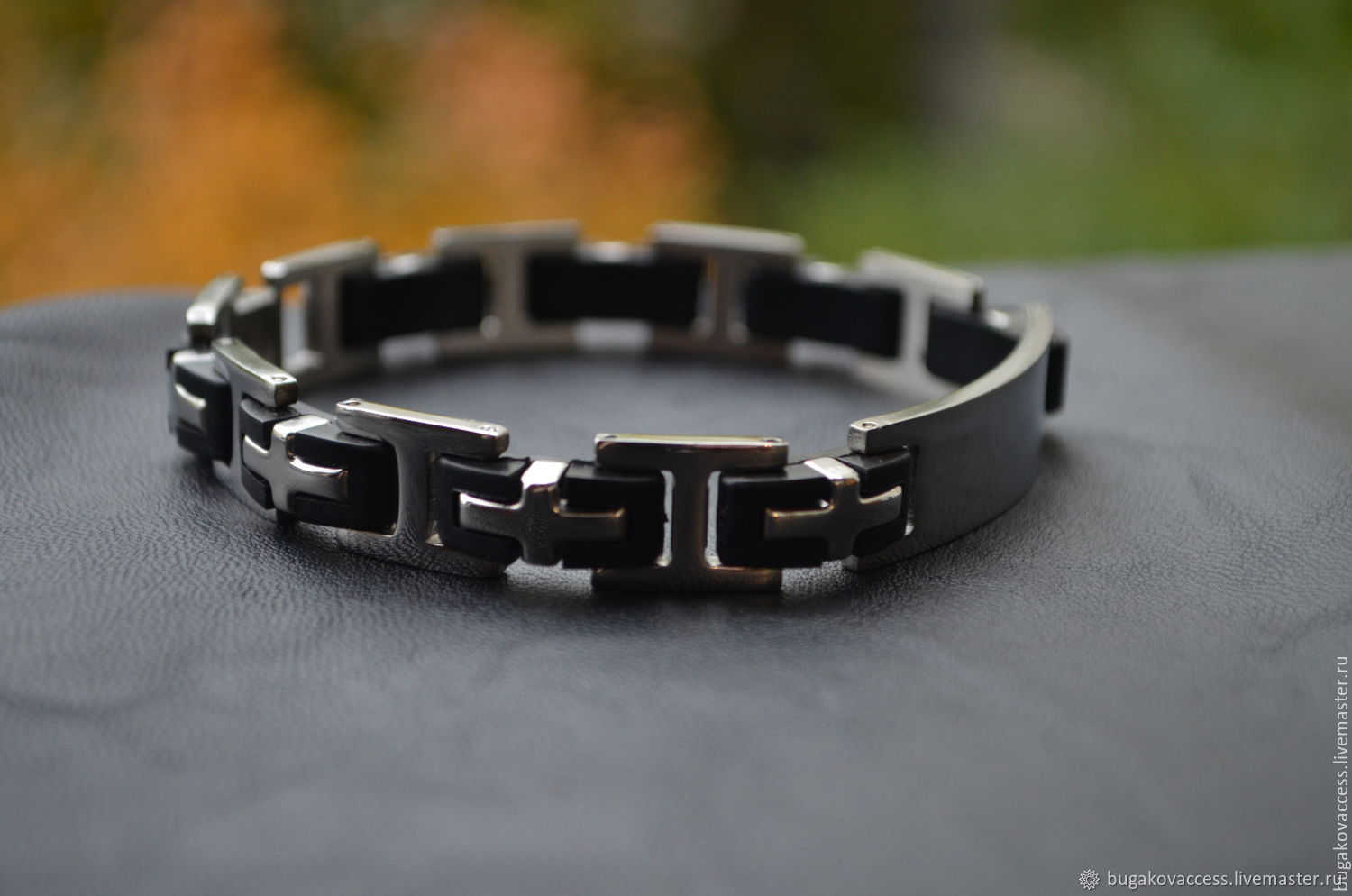 Steel bracelet with a buckle for engraving, Bead bracelet, Moscow,  Фото №1