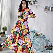 """Одежда ручной работы. Ярмарка Мастеров - ручная работа Летнее платье """"Зонтики"""". Handmade."""