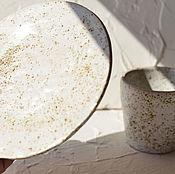 """Посуда ручной работы. Ярмарка Мастеров - ручная работа Чайная пара """"Кофейная"""". Handmade."""