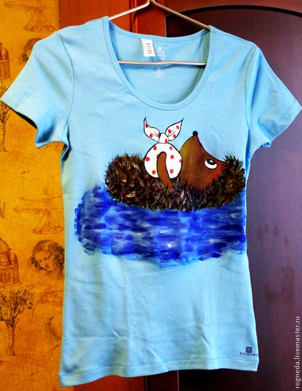 Цветные футболки с Ежиком В Тумане, Футболки, Москва,  Фото №1