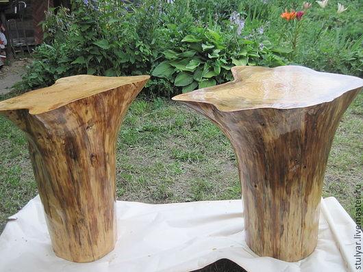 Мебель ручной работы. Ярмарка Мастеров - ручная работа. Купить Столик из ствола. Handmade. Столик, дерево, дерево, ёль