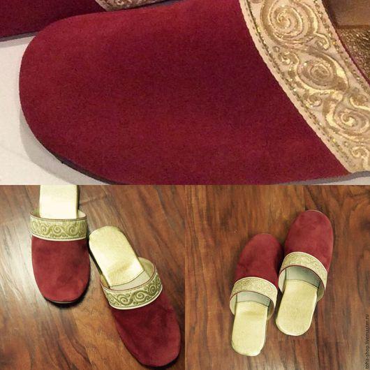 """Обувь ручной работы. Ярмарка Мастеров - ручная работа. Купить Кожаные  тапочки  """"УЗОР"""". Handmade. Кожа, обувь на заказ, морские"""