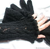 Аксессуары handmade. Livemaster - original item Sleeves black gloves,extra long gloves black. Handmade.