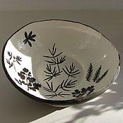 """Посуда ручной работы. Ярмарка Мастеров - ручная работа Блюдо-салатник """"Графика лета - Катунь"""", керамика. Handmade."""