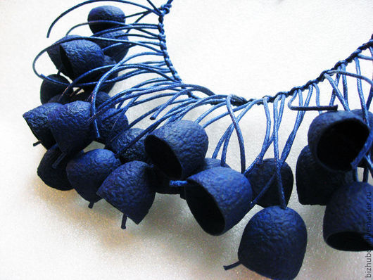 """Колье, бусы ручной работы. Ярмарка Мастеров - ручная работа. Купить Бусы """"Колокольчики мои"""". Handmade. Тёмно-синий, синий"""