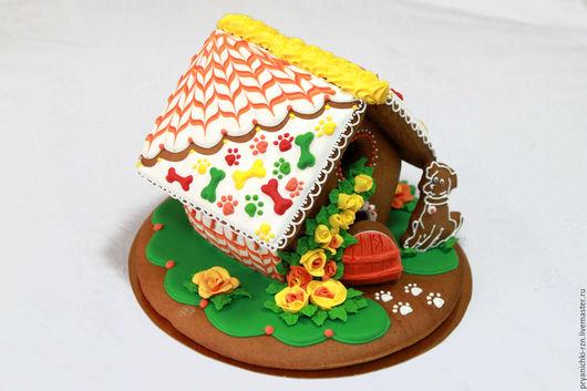 Кулинарные сувениры ручной работы. Ярмарка Мастеров - ручная работа. Купить Пряничный домик на день рождения. Handmade. Пряничный домик