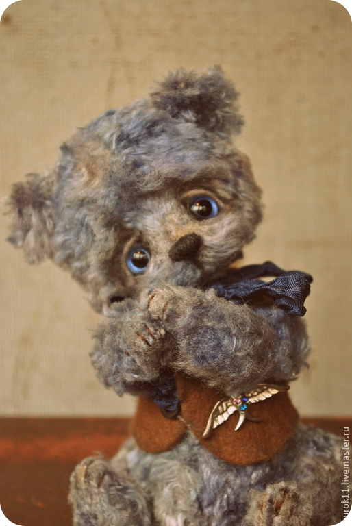 Мишки Тедди ручной работы. Ярмарка Мастеров - ручная работа. Купить Мишка Тедди Деня. Handmade. Голубой, авторская игрушка