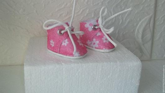 Одежда для кукол ручной работы. Ярмарка Мастеров - ручная работа. Купить Фетровые ботиночки 6 см. Handmade. Розовый