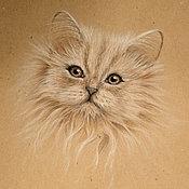 Картины и панно ручной работы. Ярмарка Мастеров - ручная работа Кошка. Эскиз. Handmade.