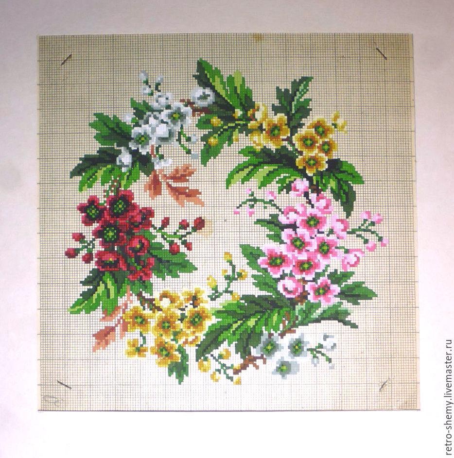 Схемы вышивки крестом веночка