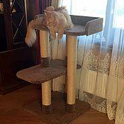 Для домашних животных, ручной работы. Ярмарка Мастеров - ручная работа Лежанка для мейн куна. Когтеточка для крупной кошки купить.. Handmade.