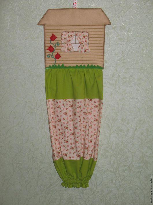 Кухня ручной работы. Ярмарка Мастеров - ручная работа. Купить Пакетница домик. Handmade. Комбинированный, декоративное панно