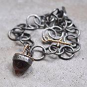 Украшения handmade. Livemaster - original item Bracelet with tourmaline, silver and Goldfield. Handmade.