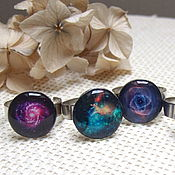 Украшения handmade. Livemaster - original item Ring Galaxy Space Universe On The Choice Of Resin Space Decoration. Handmade.