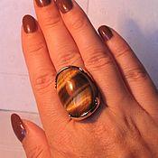 шикарное кольцо с тигровым глазом