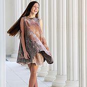 """Одежда ручной работы. Ярмарка Мастеров - ручная работа """"Лео """" нуно-войлочное платье. Handmade."""