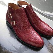 Ботинки ручной работы. Ярмарка Мастеров - ручная работа Полусапожки из кожи крокодила, премиум класса. Handmade.