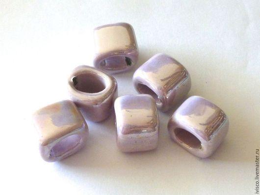 Для украшений ручной работы. Ярмарка Мастеров - ручная работа. Купить Керамические бусины для Regaliz нежно-сиреневые. Handmade.