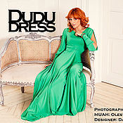 Одежда ручной работы. Ярмарка Мастеров - ручная работа Платье в пол зелёная трава. Handmade.