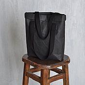 Сумка-шоппер ручной работы. Ярмарка Мастеров - ручная работа Шопперы из моющегося крафта. Handmade.