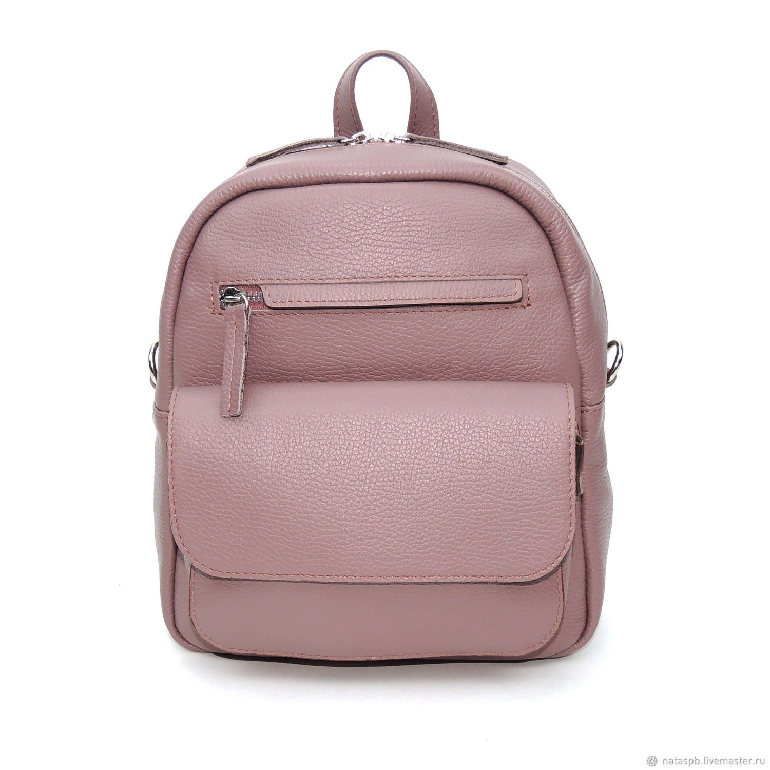 Backpack leather ladies purple Tristan – shop online on Livemaster ... 231c61705402f