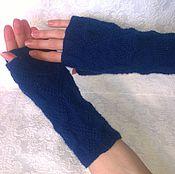 """Аксессуары ручной работы. Ярмарка Мастеров - ручная работа Митенки """"Загадала?!"""" вязаные митенки автомобильные перчатки рукава. Handmade."""