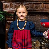 Работы для детей, ручной работы. Ярмарка Мастеров - ручная работа Длинное детское платье.. Handmade.