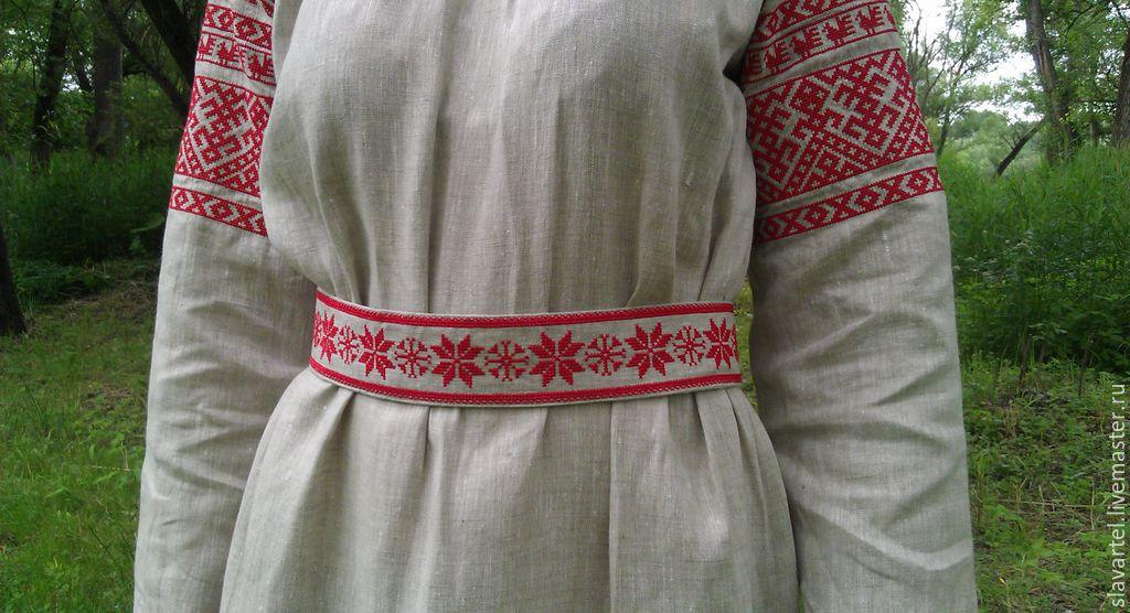 Женская славянская рубаха своими руками 10