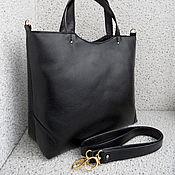 Сумки и аксессуары ручной работы. Ярмарка Мастеров - ручная работа СИТИ  кожаная повседневная сумка, черная. Handmade.