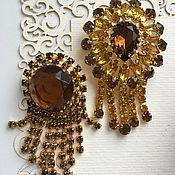 Винтаж handmade. Livemaster - original item Vintage brooches with crystals of Czechoslovakia 60-70s. Handmade.