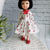 Одежда для кукол ручной работы. Ярмарка Мастеров - ручная работа Платье с сердечками для Паола Рейна. Handmade.
