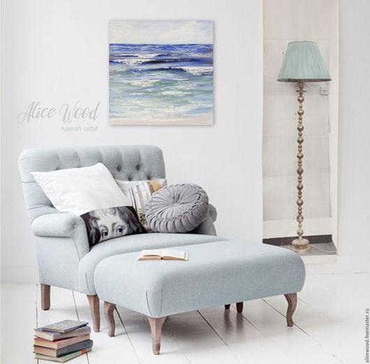 Alice Wood / Пейзаж ручной работы. Ярмарка Мастеров - ручная работа. Купить картину «Море». Картина с морем. Картина маслом на холсте. Моской пейзаж. Handmade