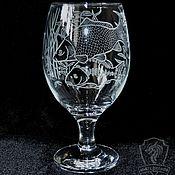 Посуда handmade. Livemaster - original item Carp. Beer glass. Handmade.
